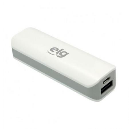Carregador portátil Power Bank 2000mAh USB e Micro USB -  ECPB2 - Express - Branco - Elg