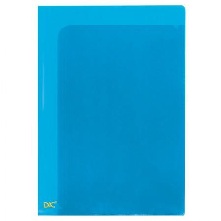 Pasta em L A4 com 10 divisões - Azul - 681PP/AZ - Dac