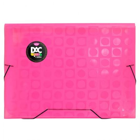 Pasta sanfonada A4 com 12 divisões rosa 912PP/RS - Dac