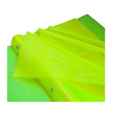 Pasta catálogo A4 - 908PP/AM - amarelo - com 10 envelopes plásticos - Dac