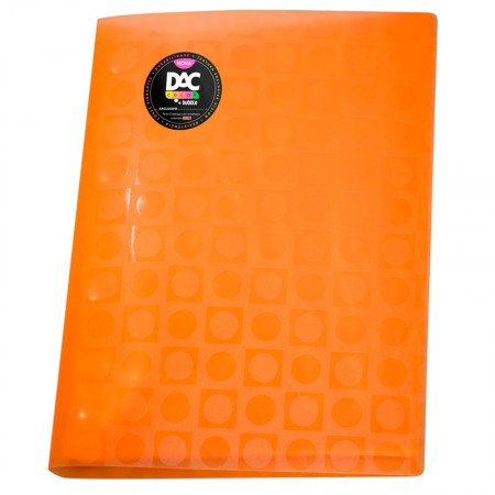 Pasta catálogo A4 908PP/LR laranja 10envelopes plást Dac