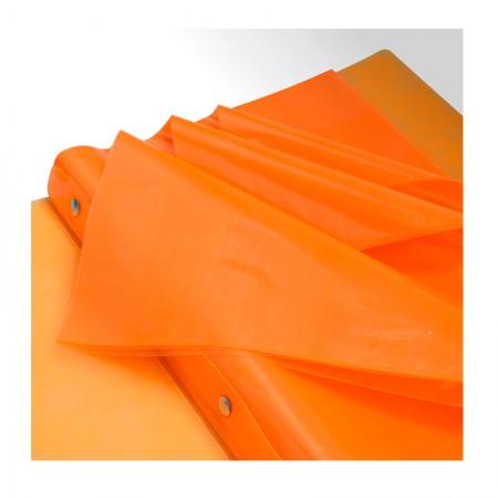 Pasta catálogo A4 - 908PP/LR - laranja - com 10 envelopes plásticos - Dac