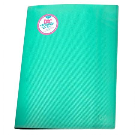 Pasta catálogo A4 808PP/VD verde pastel 10envelopes plást Dac