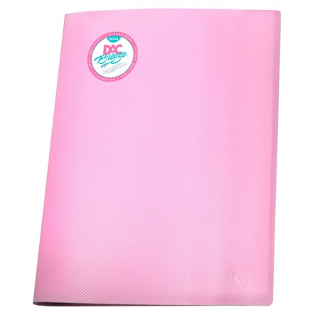 Pasta catálogo A4 808PP/RS rosa pastel 10envelopes plást Dac