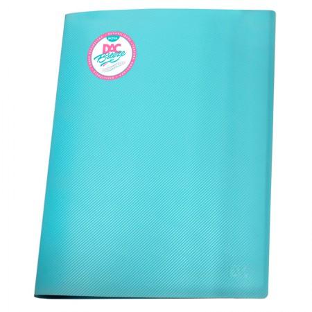 Pasta catálogo A4 808PP/AZ azul pastel 10envelopes plást Dac