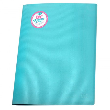 Pasta catálogo A4 - 808PP/AZ - azul pastel - com 10 envelopes plásticos - Dac