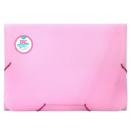 Pasta sanfonada A4 com 12 divisões rosa pastel 811PP/RS - Dac