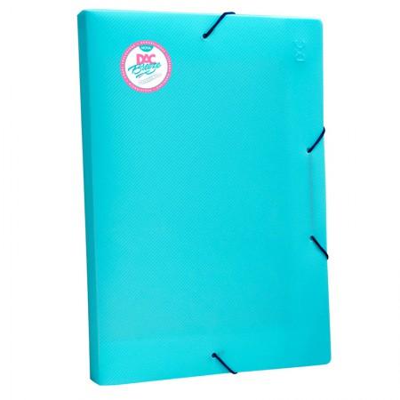 Pasta aba elástico ofício lombo 20mm - Azul pastel - 802PP/AZ - Dac