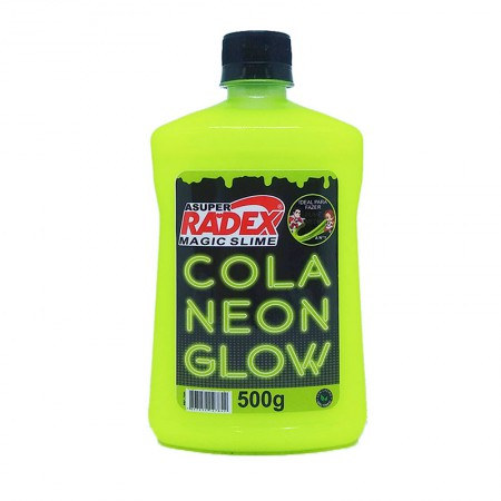 Cola líquida neon amarelo glow Magic Slime - 500 gramas - Radex