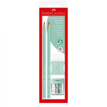 Lápis preto tom pastel verde - SM/1205PASTELAPV - com 2 unidades - Faber-Castell
