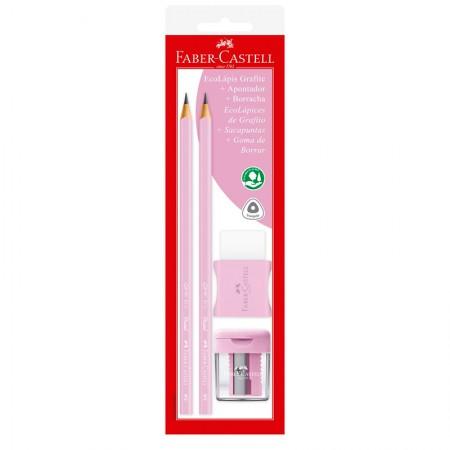 Lápis preto tom pastel rosa - SM/1205PASTELAPR - com 2 unidades - Faber-Castell