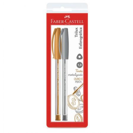 Caneta esferográfica Trilux - SM/032PO - com 2 unidades - Faber-Castell