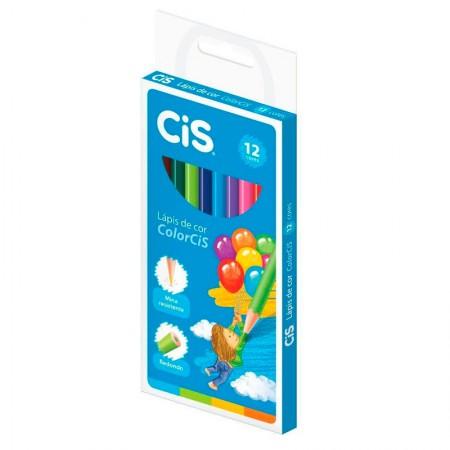 Lápis de cor Colorcis 12 cores - 18.5000 - Cis
