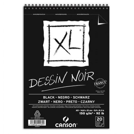 Bloco XL dessin noir black A5 150g - com 20 folhas - Canson