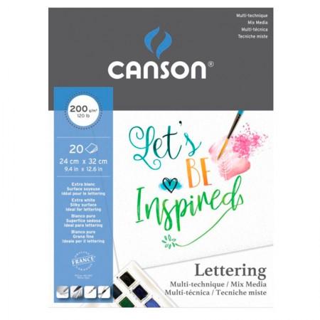 Bloco Marker lettering multi-técnica 200g - com 20 folhas - Canson