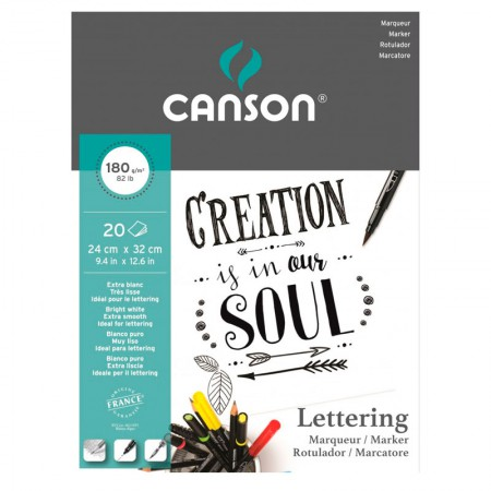 Bloco Marker lettering rotulador 180g - com 20 folhas - Canson