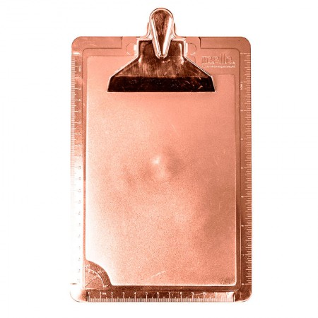Prancheta 1/2 ofício - metalizada rose gold - 3008.RG - Dello