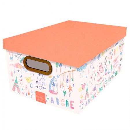Caixa Organizadora média criança feliz - 2212.02 - Dello