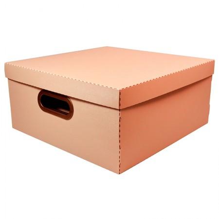 Caixa organizadora grande linho - terracota - 2206.TC - Dello