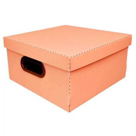 Caixa organizadora média linho - terracota - 2205.TC - Dello