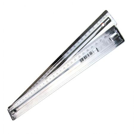 Régua plástica 30cm - metalizada prata - 3112.O - Dello