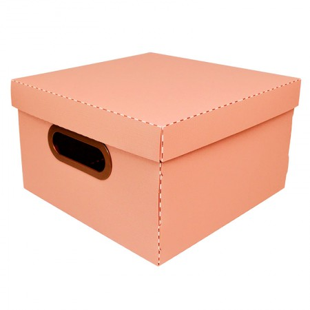 Caixa Organizadora pequena linho - terracota - 2204.TC - Dello