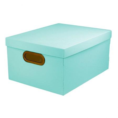 Caixa Organizadora média linho - verde pastel - 2192.VP - Dello