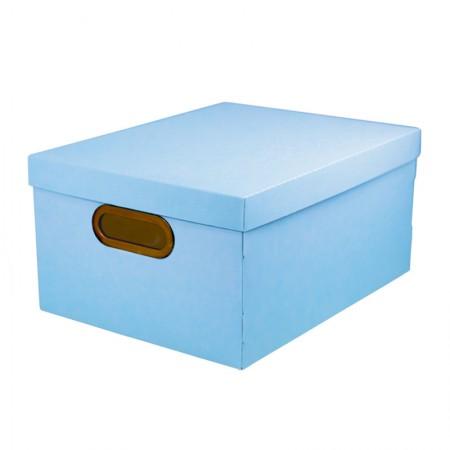 Caixa Organizadora média linho - azul pastel - 2192.BP - Dello