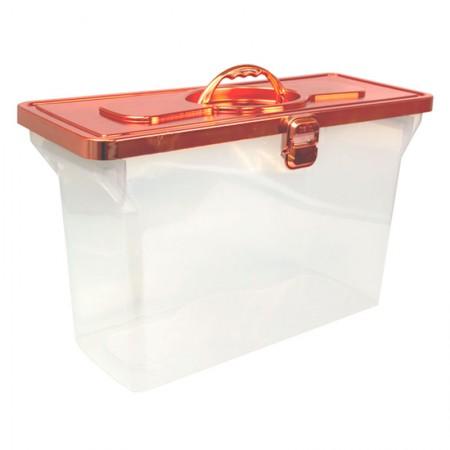 Maleta arquivo empilhável sem pasta - metalizada rose gold - 0331.RG - Dello