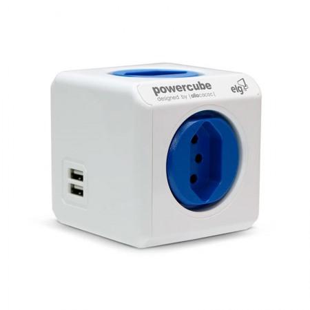 Filtro de linha 4 tomadas + 2 portas USB - PowerCube - PWC-R4U - ELG