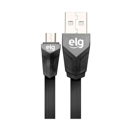 Cabo de sincronização/recarga Micro USB Flat Express 1,25 M - EC510PT - Preto - Elg