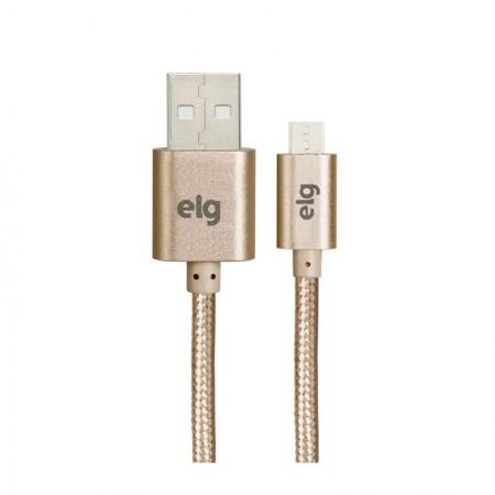 Cabo de sincronização/recarga micro USB 1M M510BG Ouro Elg