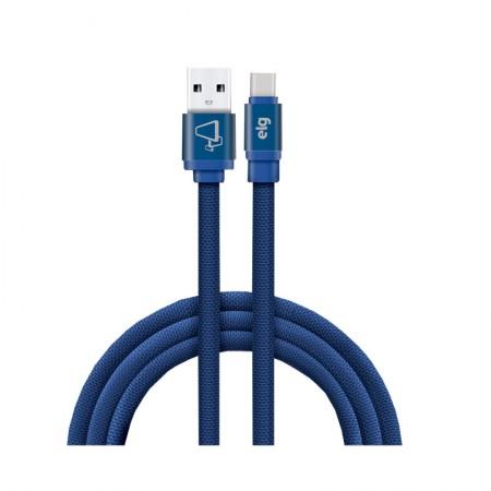 Cabo de sincronização/recarga USB canvas Tipo-C 1M - CNVC10BE - Azul - Elg