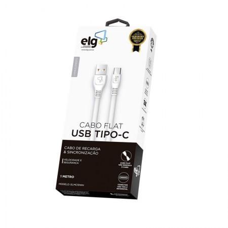 Cabo de sincronização/recarga USB Tipo-C reversível 1M - ELMC10WH - Branco - Elg