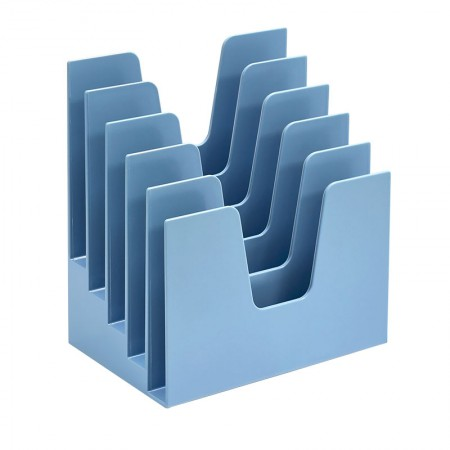 Organizador para documentos azul - 5 divisões - 225.5 - Acrimet