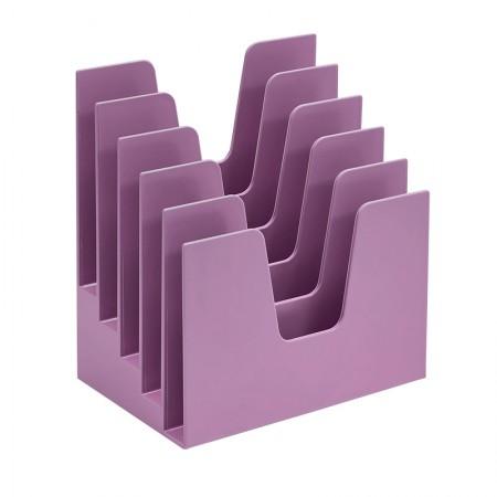 Organizador para documentos lilás - 5 divisões - 225.3 - Acrimet