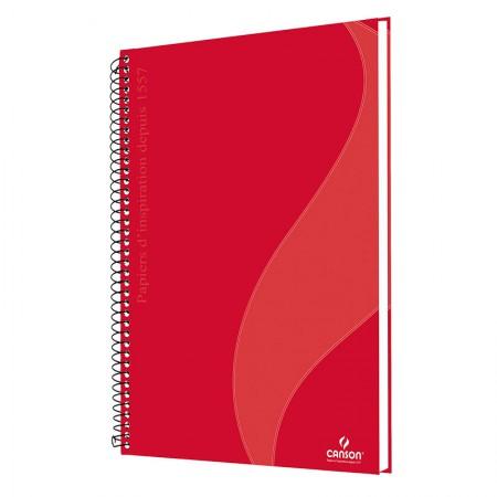 Caderno universitário profissional Desenho sem pauta - 40 folhas - Vermelho - Canson