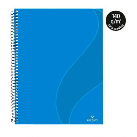 Caderno universitário prof Desenho s/pauta 40fls Azul Turquesa Canson