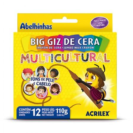 Giz de cera big multicultural 12 cores - Acrilex