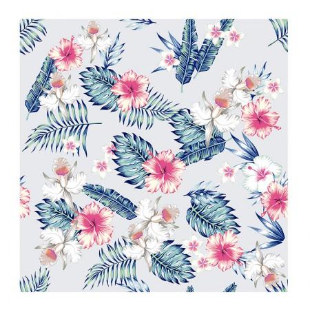 Adesivo Flores Tropicais - rolo com 2 metros - 250077 - Contact