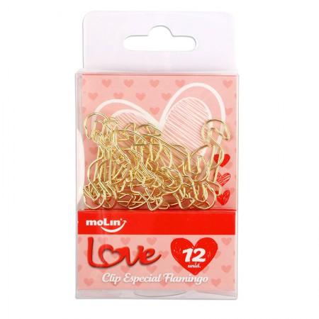 Clips especial Flamingo - com 12 unidades - 23096 - Molin