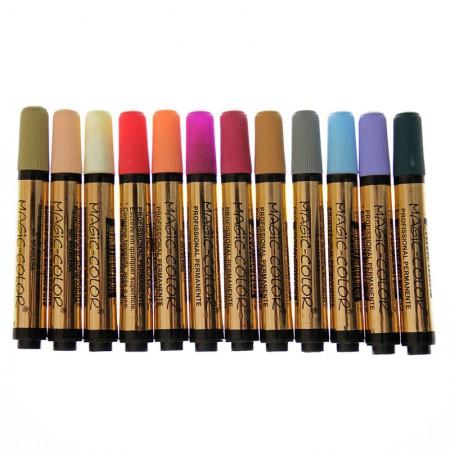 Caneta Magic Color com 12 cores - Linha Ouro - 642-0