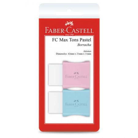 Borracha TK-plast pequena - Tom Pastel - SM/7024MAR - Blist com 2 unidades - Faber-Castell