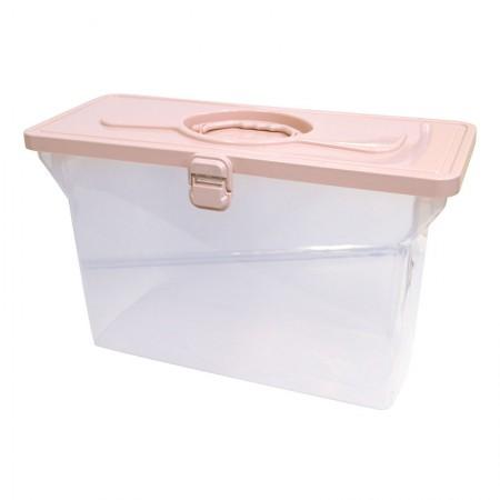 Maleta arquivo empilhável sem pasta - rosa claro - 0331.W - Dello