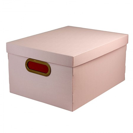 Caixa organizadora média linho - rosa claro - 2192.W - Dello