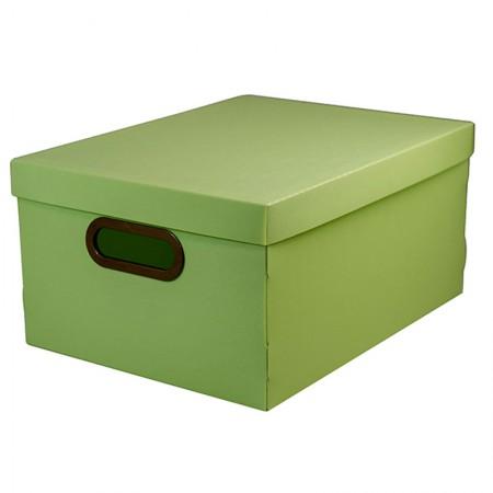 Caixa organizadora média linho - verde pistache - 2192.V - Dello