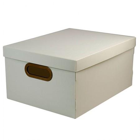 Caixa organizadora média linho - cinza - 2192.G - Dello