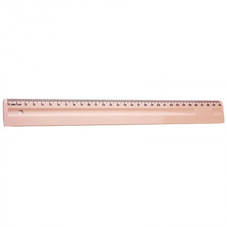 Régua plástica 30cm - rosa claro - 3112.W - Dello