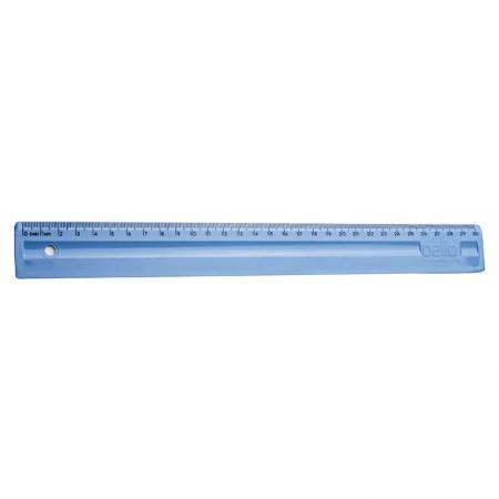 Régua plástica 30cm - azul claro - 3112.B - Dello