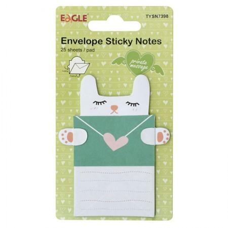 Bloco adesivo de anotações com 25 folhas - Gato - Eagle
